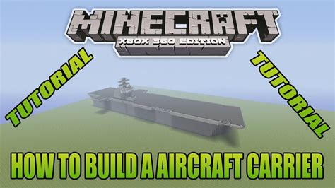 How To Make A Aircraft Carrier Out Of Paper - minecraft xbox edition tutorial how to build a aircraft
