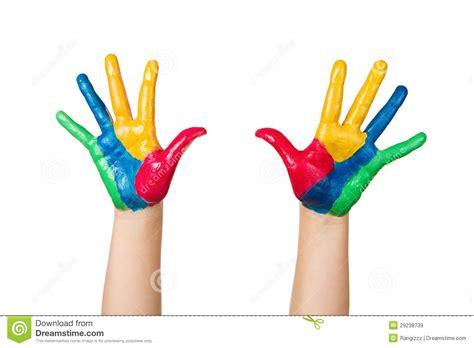 imagenes de uñas pintadas manos manos pintadas coloridas imagen de archivo imagen de