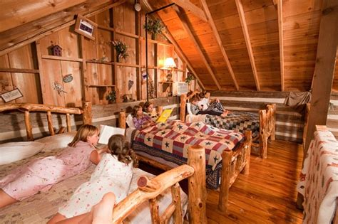 sleeping loft in cabins at silver dollar city s the