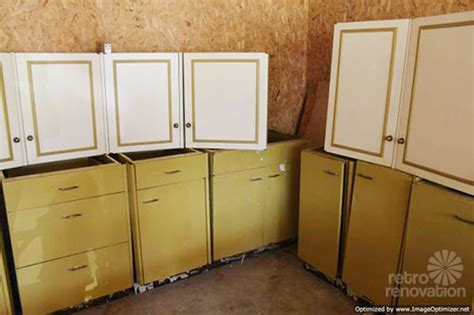 Harvest gold kitchen cabinets   vintage St. Charles