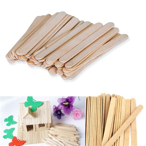 wooden crafts 200 pcs wood popsicle sticks wooden craft wax
