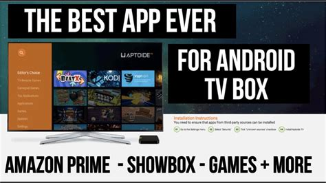 box app for android the best app for android tv box 1 click install prime more