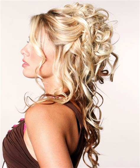 hairstyles curly and down half up and half down curly hairstyles best medium hairstyle