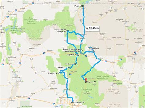 map of northern arizona upcoming road trip around northern arizona mike s road trip