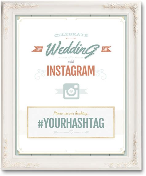 Wedding Posters Make by Free Wedding Hashtag Posters Ewedding