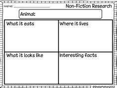 Animal Research Template Freebie Writing Pinterest Template Animal And Child Animal Report Template