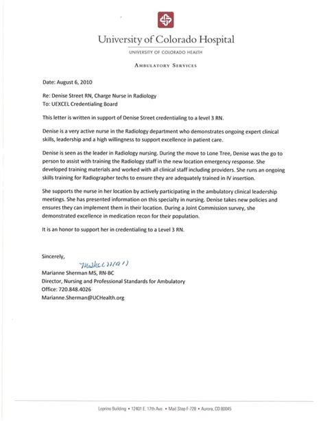 Letter Of Recommendation For Clinical Research Coordinator letters of recommendation densie rn bsn level 3