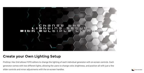 final cut pro grid pixel film studios released prodrop hex grid for final cut