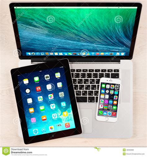 Apple Gadgets apple gadgets on desk editorial stock photo image of