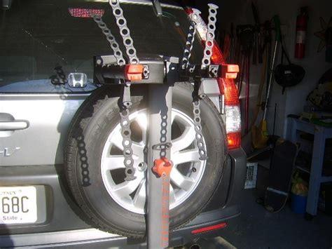 2006 honda crv spare tire bike rack