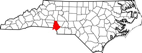 Mecklenburg County Nc Records File Map Of Carolina Highlighting Mecklenburg County Svg