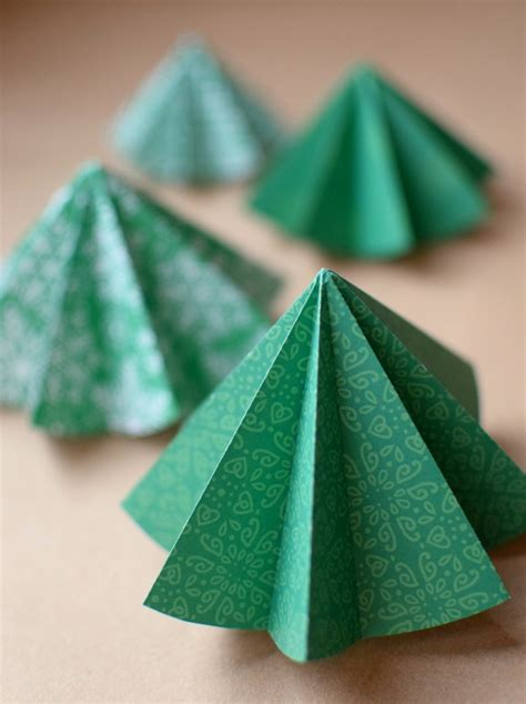 christmas tree paper folding folded paper tree ornaments what can we do with paper and glue