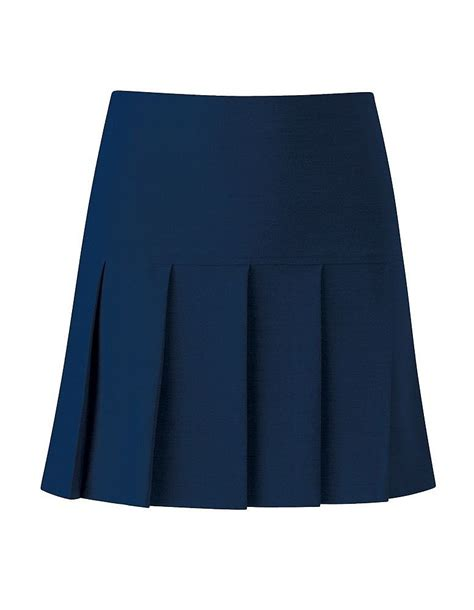 charleston longer length knife pleat school skirt 7388