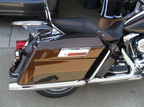 Harley Davidson 2013 Leather Light Brown List Orange 2013 harley davidson 174 flhr anv road king 174 110th anniversary brown rootbeer black w gold