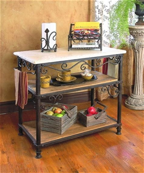 wrought iron siena rectangle kitchen island by toscana