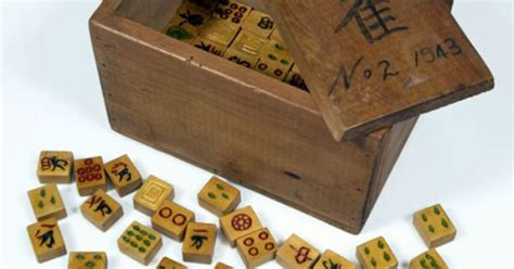 Handmade Mahjong Set - handmade mah jong set made by japanese prisoners of war