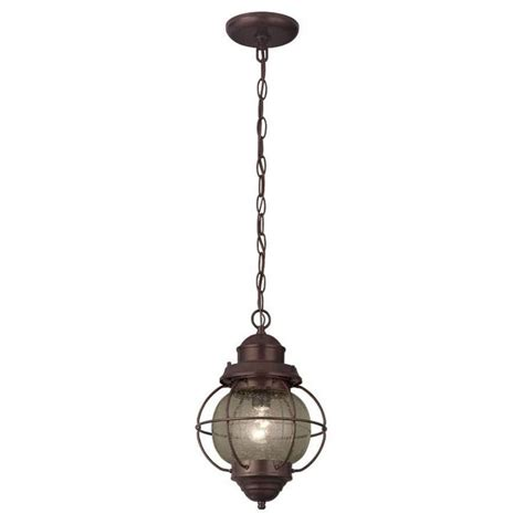 Rustic Pendant Light Portfolio Lodge Decor 9 In W Rustic Bronze Mini Pendant Light With Cl