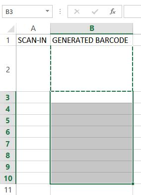 To Setup An Excel Sheet For Scanning And Instant Barcode Generation Barcode Scanner Excel Template