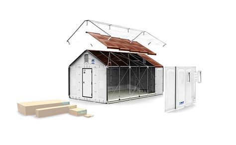 ikea flat pack house ikea unveils solar powered flat pack shelters for easily