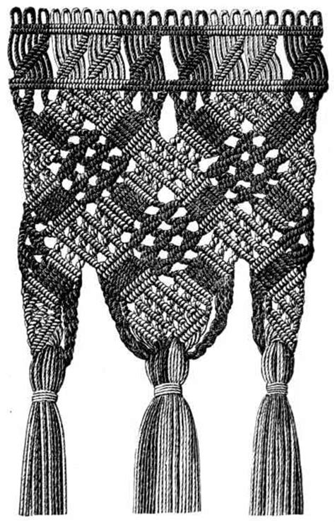 History Of Macrame - macrame how to crochet and tat on