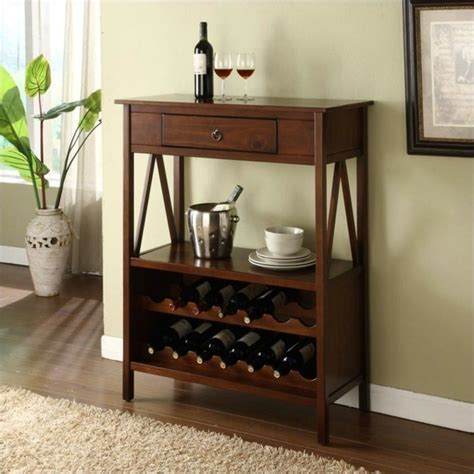 Vintage Wine Cabinet by Linon Titian Wine Cabinet In Antique Tobacco 449856