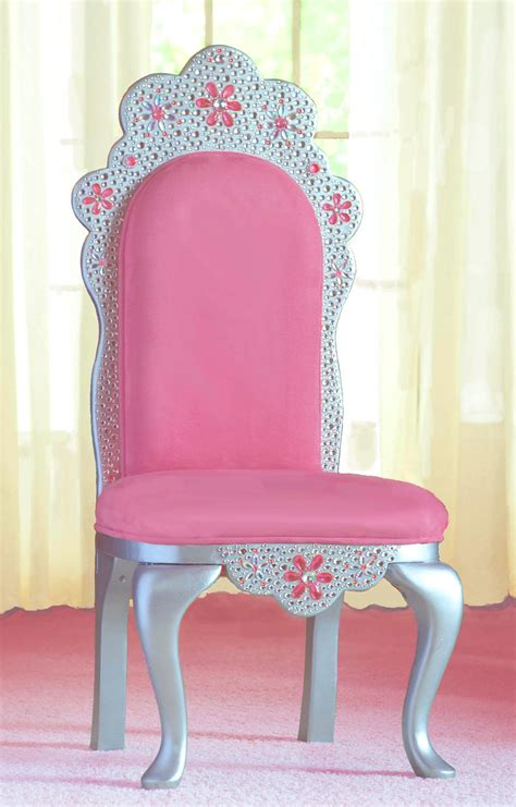items similar to tiara princess chair in pink faux suede on etsy