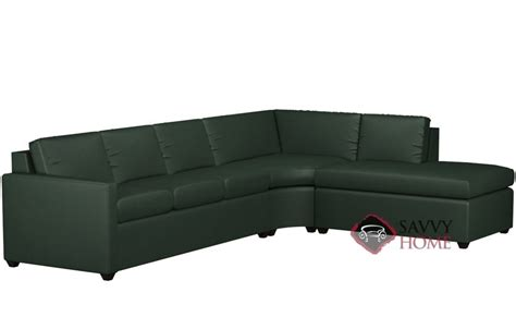 leather sleeper sectional with chaise terra leather chaise sectional by lazar industries is
