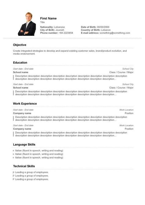 Free Resume Creator by Free Resume Creator Monday Resume Resume