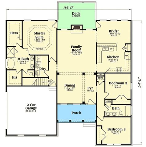 split level open floor plan open layout and split bedrooms 75466gb architectural designs house plans