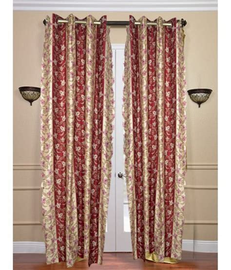 Yellow Floral Curtains Samyak Yellow Floral Designer Curtain 1pc Pur082 1 Buy Samyak Yellow Floral Designer
