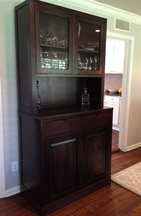 custom made china cabinets hand made clean modern cherry china cabinet by north texas