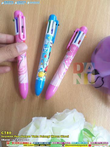 Paket Pen Gantungan Kunci Gunting Kuku souvenir pen dengan tinta pelangi warna warni souvenir
