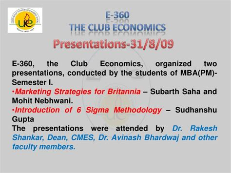 The Economist Mba Rankings Methodology by About E 360 The Club Economics