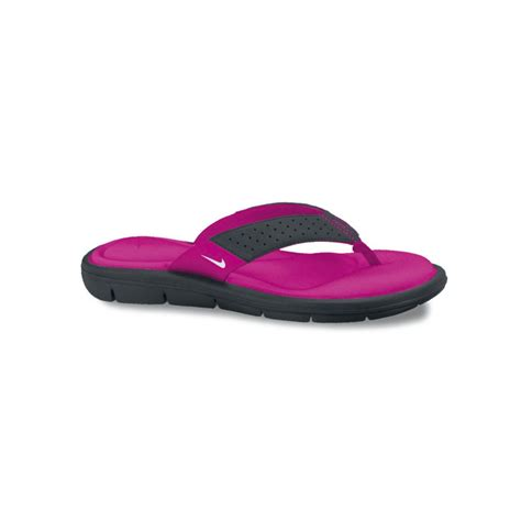 nike comfort nike comfort thong sandals in purple lyst