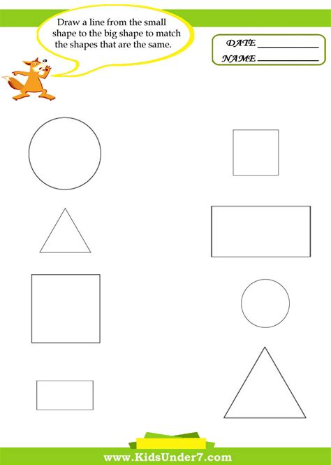 printable shapes big and small printable size worksheets learning activities for toddlers
