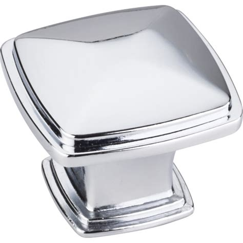 square polished chrome cabinet pulls jeffrey alexander 1 3 16 quot square milan cabinet