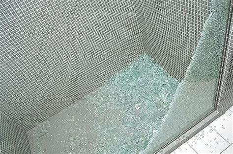 tempered glass shower door shattered warning exploding glass by jims glass your local glazier