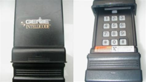 How To Program Genie Garage Door Keypad Reset Program Genie Wireless Keypad Ic Black Model