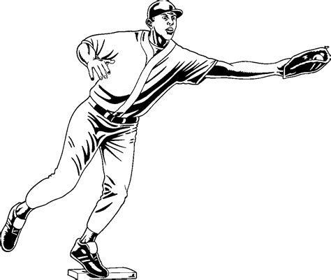babe ruth coloring page coloring home