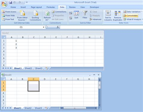 tutorial microsoft office excel 2007 consolidate data from other worksheets or workbooks
