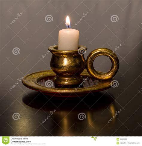 Combustione Candela Candela Antica Della Cera Di Combustione Dell Oro
