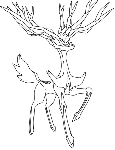 pokemon coloring pages deer coloriage pokemon xerneas