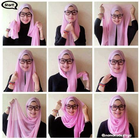 tutorial hijab simple muka bulat foto tutorial fashion model dan style baju hijabers 2014