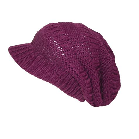 womens throwback chunky knit slouchy beanie hat by ctm