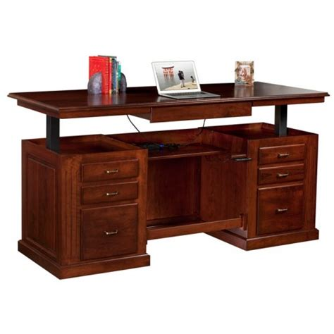 sit and stand desk sit stand executive desk