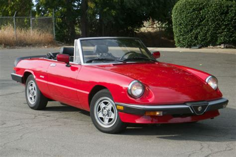 alfa romeo spider convertible 1988 alfa romeo spider graduate convertible for sale