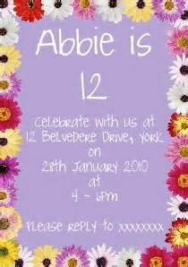 Your own 12th birthday party invitations birthday invitation ideas