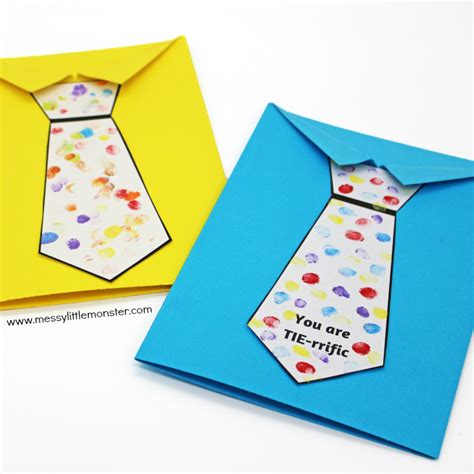 printable fathers day cards for to make s day tie card with free printable tie template