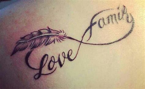 tattoo feather family simple feather love family infinity tattoo golfian com