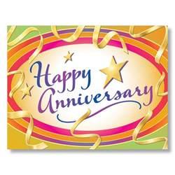 vibrant employee anniversary cards